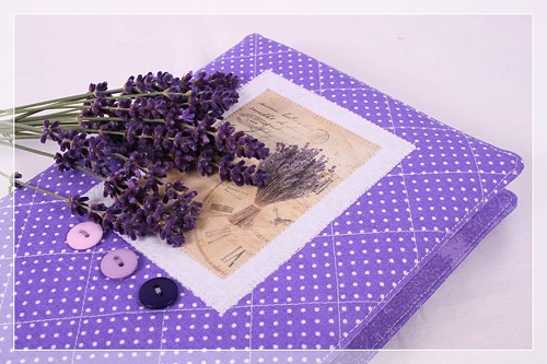 Levandulový obal na knihu